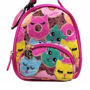 Handbags - Betsey Johnson Clear Donut-Cat Mini Backpack